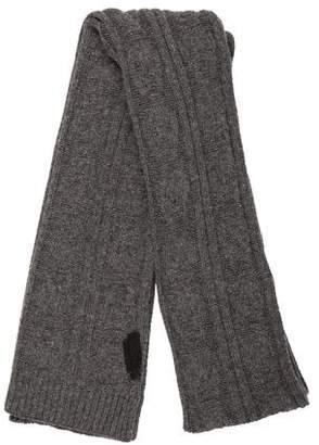 Alexander McQueen Knit Woven Scarf