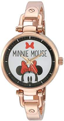 Disney Minnie Mouse Women's Rosegold Alloy Bridle Watch