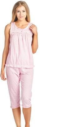 Casual Nights Women s Sleeveless Tank Top Capri Pajama Set 5b355779f