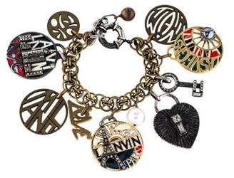 Lanvin Crystal Charm Bracelet