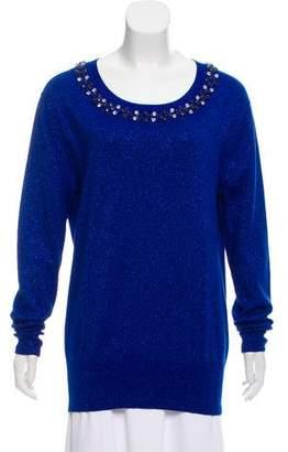 Markus Lupfer Embellished Metallic Sweater