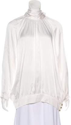 Pierre Balmain Silk Long Sleeve Blouse w/ Tags
