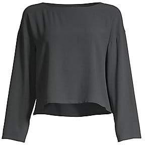 Eileen Fisher Women's Silk Georgette Crepe Top