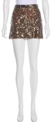 Haute Hippie Sequined Mini Skirt gold Sequined Mini Skirt