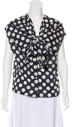 Sofie D'hoore Polka Dot Sleeveless Top