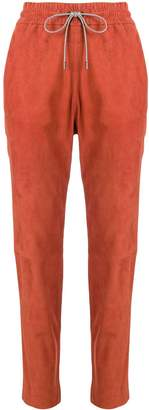 Fabiana Filippi suede tapered trousers