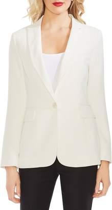 Vince Camuto Peak Collar Single Button Pique Blazer