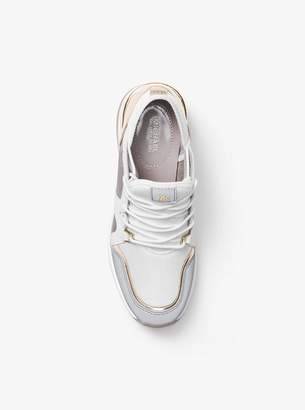 MICHAEL Michael Kors Scout Metallic Leather and Mesh Sneaker