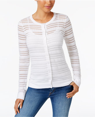 Charter Club Sheer Striped Cardigan, Only at Macy's $39.98 thestylecure.com