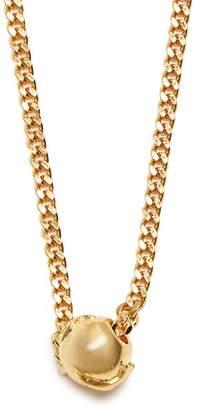 Black Dakini - Bead Embellished Gold Vermeil Necklace - Mens - Gold