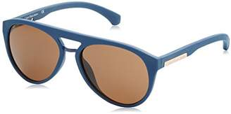 Calvin Klein Jeans Unisex Adults' Round Eye Sunglasses,56