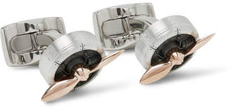 Deakin & Francis Sopwith Propeller Aluminium Rose Gold Cufflinks - Men - Silver
