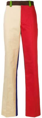Calvin Klein straight leg colourblock trousers