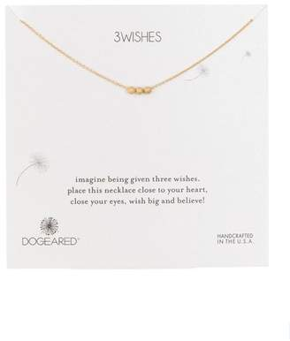 Dogeared 14K Gold Vermeil 3 Wishes Stardust Beads Necklace