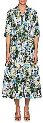 Erdem Women's Kasia Floral Cotton Midi-Shirtdress