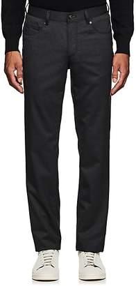 Hiltl Men's Wool Twill Slim Trousers - Charcoal Size 38