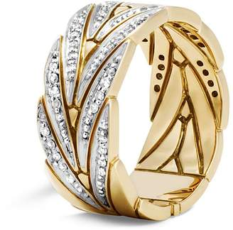 John Hardy Diamond 18k yellow gold ring