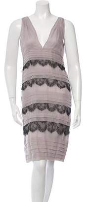 Valentino Silk Lace-Accented Dress w/ Tags