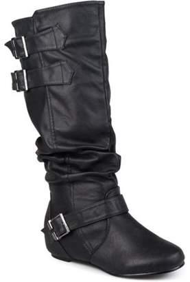 Co Brinley Women's Cammie Buckle Detail Wide Calf Boots