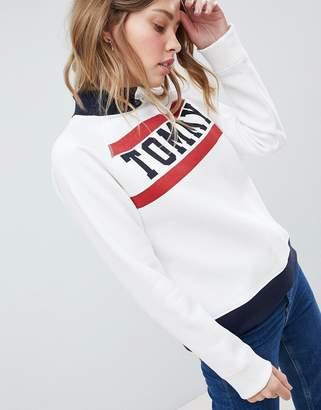 Tommy Hilfiger High Neck Logo Sweatshirt
