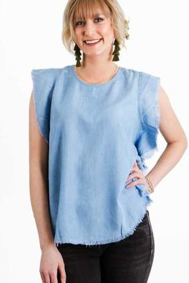 Elan International Denim Top