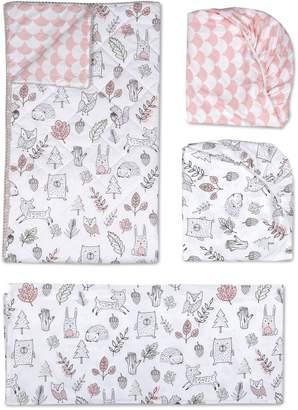 Living Textiles Woodlands 4-Piece Crib Bedding Set