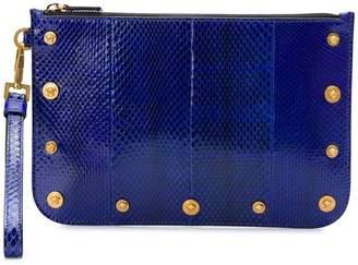 Versace Medusa stud clutch bag