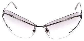 Salvatore Ferragamo Gancini Rimless Sunglasses