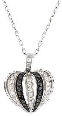 18K Diamond Heart Pendant Necklace