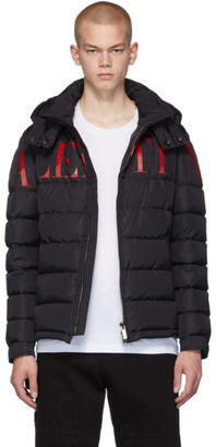 Valentino Black Down Logo Jacket