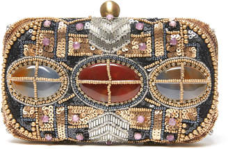 Gabrielle Hoffman Beaded Hard Case Clutch