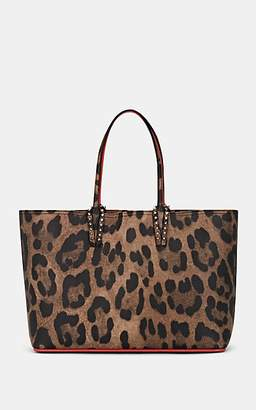 Christian Louboutin Women's Cabata Leopard-Print Leather Tote Bag - Brown
