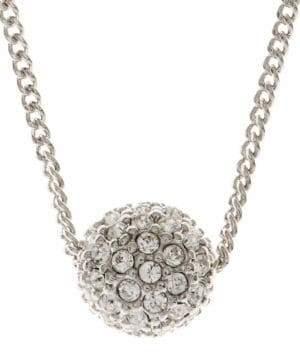Givenchy Silvertone Crystal Fireball Pendant