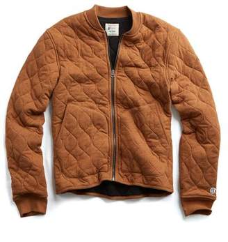 Todd Snyder + Champion Champion Quilted Bomber in Chestnut