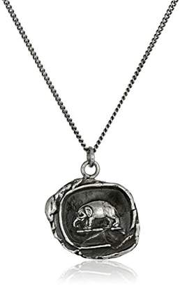 "Pyrrha talisman"" Sterling Elephant Necklace"