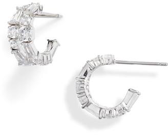 Nadri Bouquet Hoop Earrings