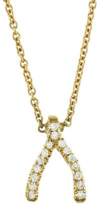 Jennifer Meyer Mini Diamond Wishbone Necklace