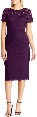 Chaps Floral Lace Sheath Dress
