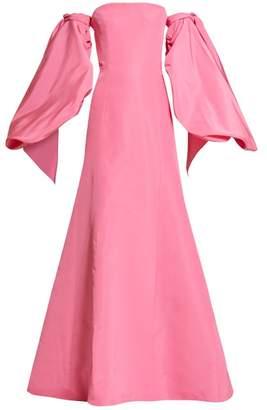 Carolina Herrera Balloon Sleeve Silk Faille Gown - Womens - Pink