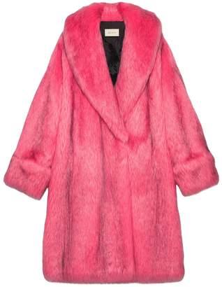 Gucci Oversize faux fur coat
