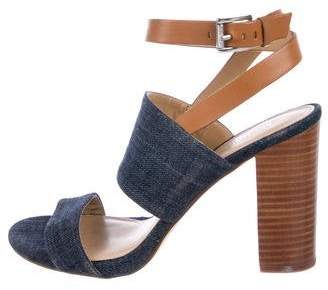 Michael Kors Denim High-Heel Sandals