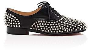 Christian Louboutin Women's Donna Leather Oxfords-Black, Silver