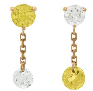Raphaele Canot Set Free Yellow Sapphire Mismatch Stud Earrings
