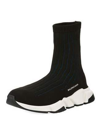 Balenciaga Speed Ribbed Low Trainer Sneaker $650 thestylecure.com
