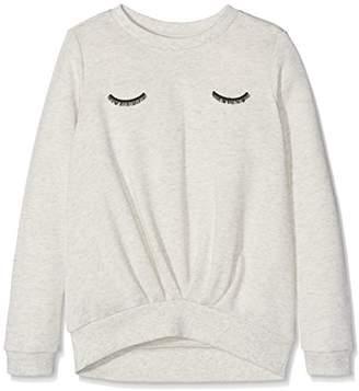 Name It Girl's Nithila Unb SWE NMT Sweatshirt, Grey (Light Melange Light Melange)