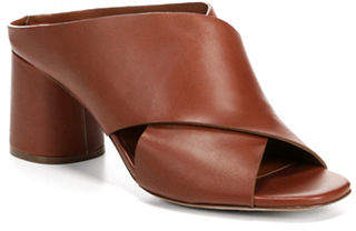 Vince Theron Crisscross Leather Mules