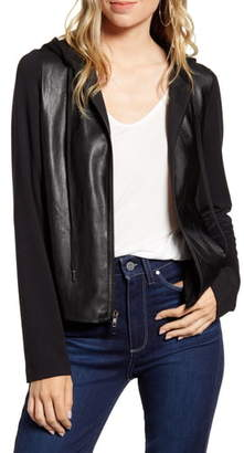 Bailey 44 Angelica Faux Leather Hooded Jacket