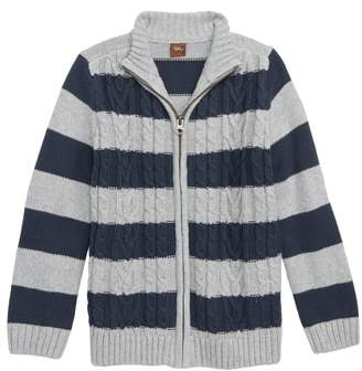 Tea Collection Donegal Stripe Sweater Cardigan