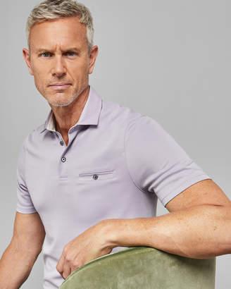 Ted Baker ASLAMTT Tall cotton polo shirt