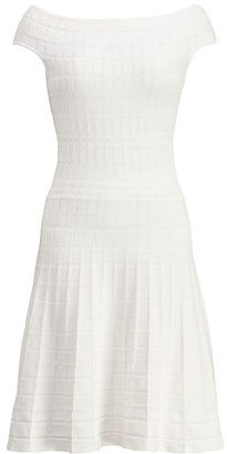 Ralph Lauren Lauren Fit-And-Flare Dress $165 thestylecure.com